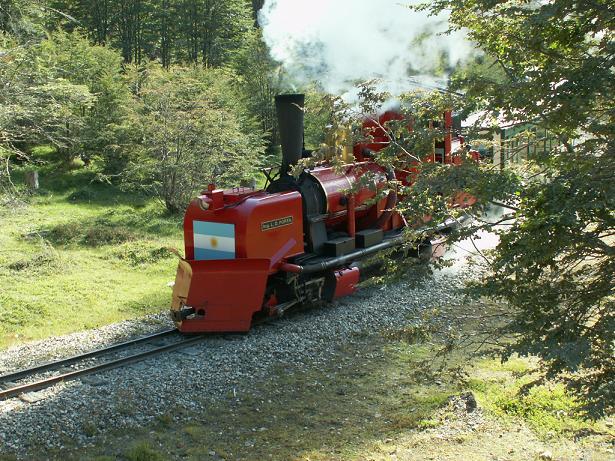 רכבת סוף העולם בתחילת הפארק