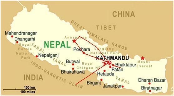 מפת נפאל (Nepal Map)