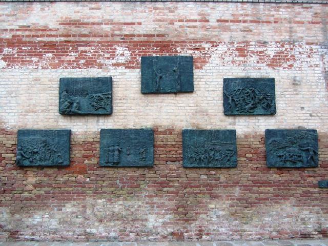 קיר הזכרון בגטו היהודי, וונציה, איטליה